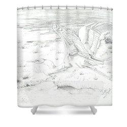Flight Of Grace Shower Curtain