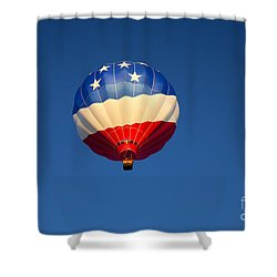 Flight Of The Patriot Shower Curtain by Mike  Dawson