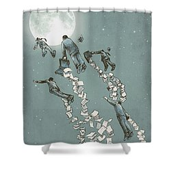 Flight Of The Salary Men Shower Curtain