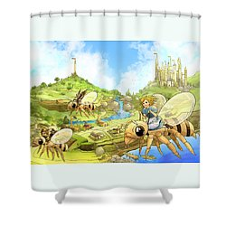 Flight Over Capira Shower Curtain