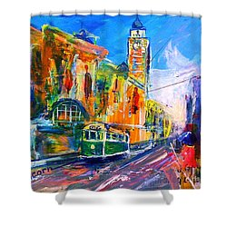 Flinders Street - Original Sold Shower Curtain by Therese Alcorn