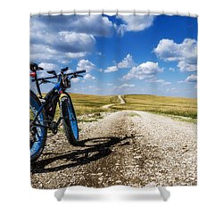 Flint Hills Fall Fatbike Ride Shower Curtain