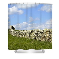 Shower Curtain featuring the photograph Flint Hills Rock Fence by Steven Bateson