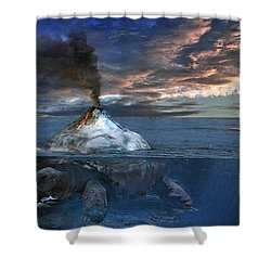 Flint Shower Curtain by Rick Mosher