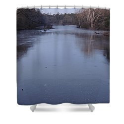 Shower Curtain featuring the photograph Flint River 1 by Kim Pate