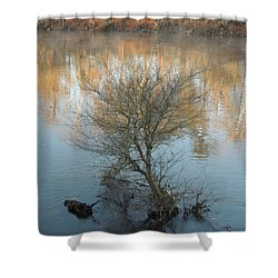 Shower Curtain featuring the photograph Flint River 24 by Kim Pate