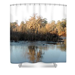 Shower Curtain featuring the photograph Flint River 27 by Kim Pate