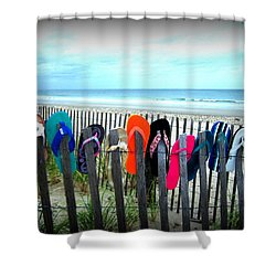 Flip Flops 2 Shower Curtain