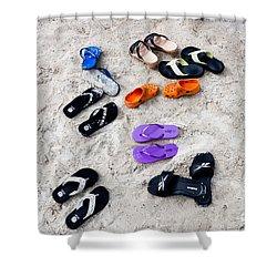 Flip Flops On The Beach Shower Curtain