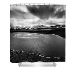 Fljotsdalshreppur Shower Curtain by Dave Bowman