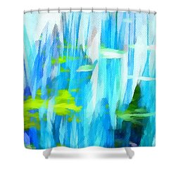 Float 1 Horizontal Shower Curtain by Angelina Vick