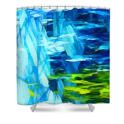 Float 3 Horizontal  Shower Curtain by Angelina Vick