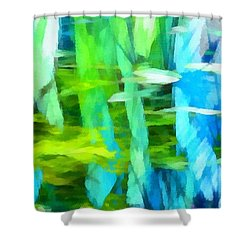 Float 4 Horizontal Shower Curtain by Angelina Vick
