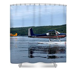 Float Planes On Keuka Shower Curtain