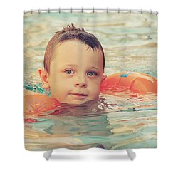 Floaties Shower Curtain by Laurie Search