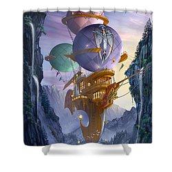 Floatilla Shower Curtain by Ciro Marchetti