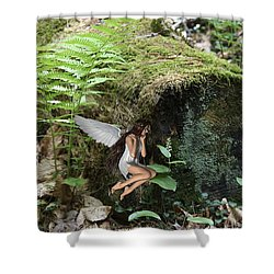 Floating Fairy In Forest Shower Curtain