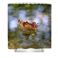 Floating Fall Leaf Shower Curtain