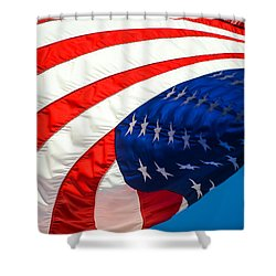 Floating Flag  Shower Curtain by Mary Ward
