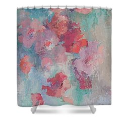 Floating Flowers Painting Shower Curtain