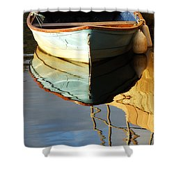 Floating On Blue 4 Shower Curtain by Wendy Wilton