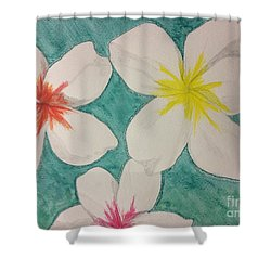 Floating Plumeria Shower Curtain