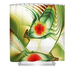 Shower Curtain featuring the digital art Floating Thoughts by Anastasiya Malakhova
