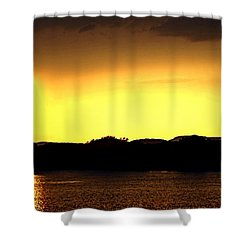 Flood Me With Your Light Shower Curtain by Sharon Soberon
