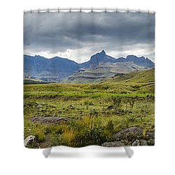 Flooding Light Shower Curtain by Roald Nel