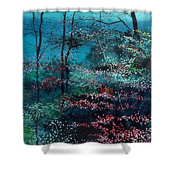 Flora 1 Shower Curtain by Anil Nene