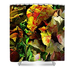Shower Curtain featuring the digital art Floral 082114 by David Lane