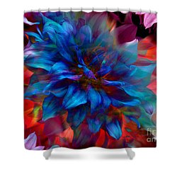 Floral Abstract Color Explosion Shower Curtain by Stuart Turnbull