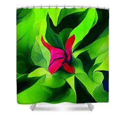 Shower Curtain featuring the digital art Floral Abstract Play by David Lane