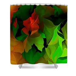 Shower Curtain featuring the digital art Floral Abstraction 090814 by David Lane