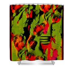 Floral Arrrangement Abstract Shower Curtain by John Malone