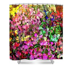 Floral Basket 1  2.4 To 1 Aspect Ratio Shower Curtain