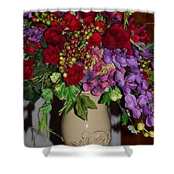 Floral Decor Shower Curtain by Kathleen Struckle