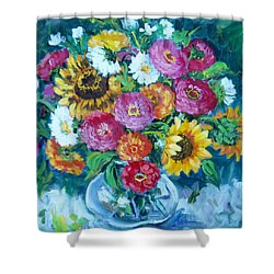 Floral Explosion No.1 Shower Curtain