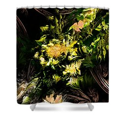 Shower Curtain featuring the digital art Floral Expression 020215 by David Lane