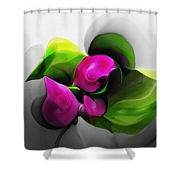 Floral Expression 111213 Shower Curtain by David Lane