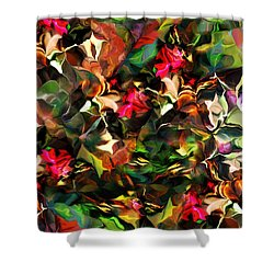 Floral Expression 121914 Shower Curtain by David Lane