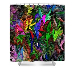Floral Fantasy 012015 Shower Curtain by David Lane