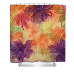 Floral Fantasy Shower Curtain by Ellen Levinson