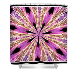 Shower Curtain featuring the photograph Floral Kaleidoscope  Waterlily by Rose Santuci-Sofranko