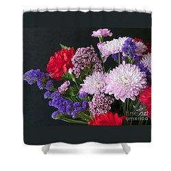 Floral Mix Shower Curtain by Ann Horn