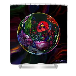 Floral Still Life Orb Shower Curtain