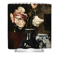 Floral Still Life Shower Curtain by Roderic O Conor