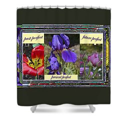 Shower Curtain featuring the photograph Floral Tenses by Larry Bishop