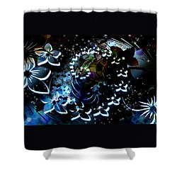 Floral Way Shower Curtain by Paula Ayers