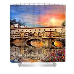 Florence Bridge Shower Curtain by Dominic Davison